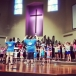 Afternoon rehearsal, DAY TWO at Grace UMC's MAD Week.
