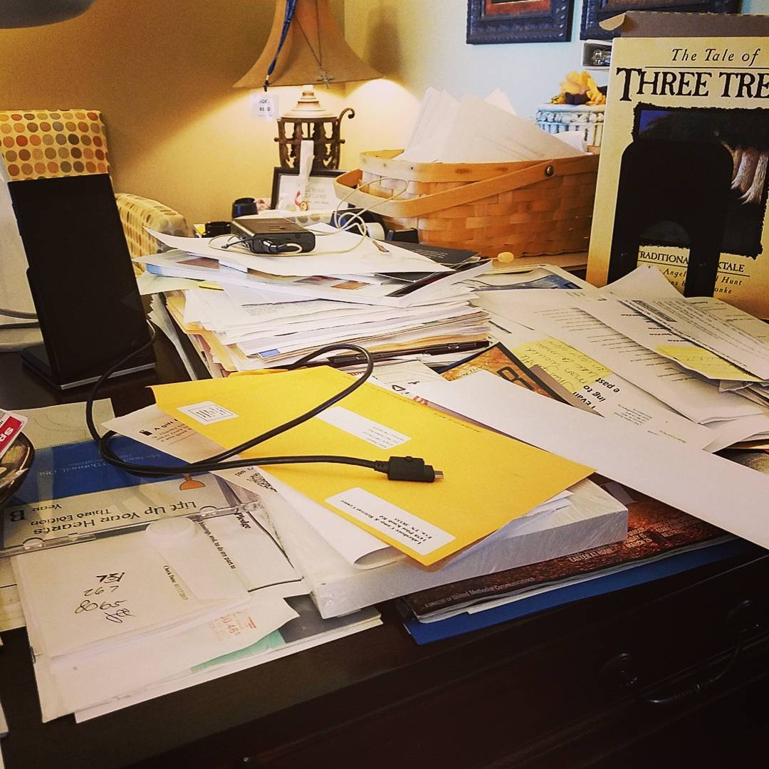 Time to tackle the desk. #heisrisen